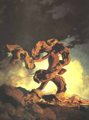 Maxfield Parrish - Cadmus Sowing the Dragons Teeth