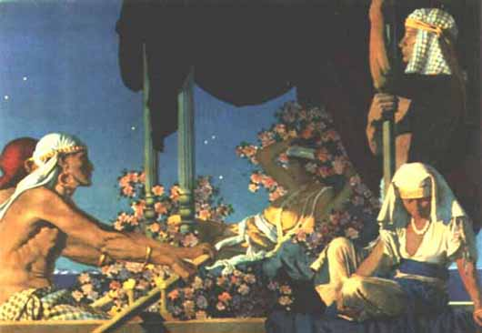 Maxfield Parrish - Cleopatra