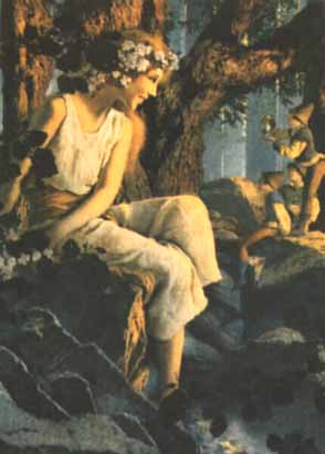 Maxfield Parrish - La Purfum