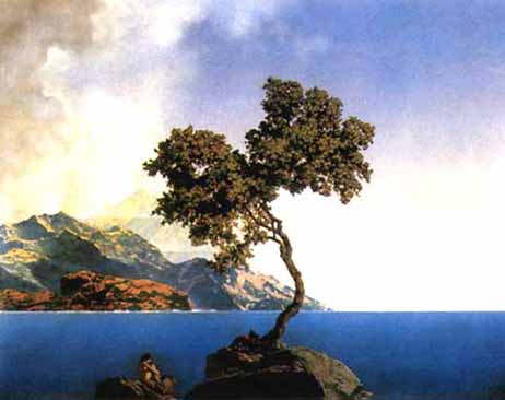Maxfield Parrish - Aquamarine