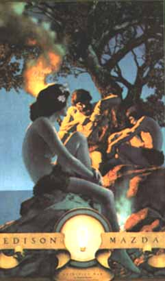 Maxfield Parrish - Primitive Man
