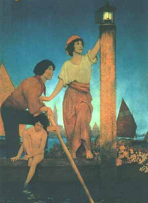 Maxfield Parrish - Venetian Lamplighter