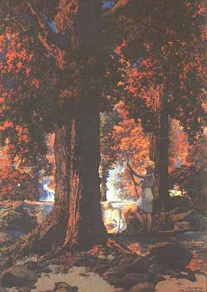 Maxfield Parrish - Golden Hours/Autumn