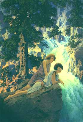 Maxfield Parrish - Waterfall