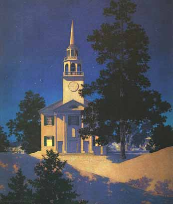 Peaceful Night (Church at Nowich, Vermont)